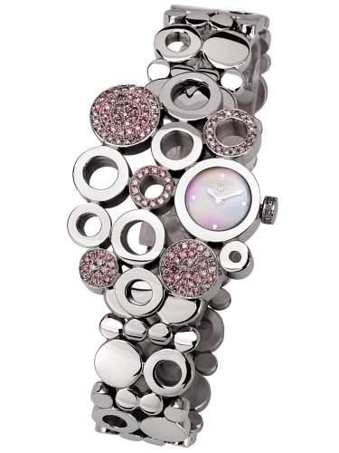 Swisstek Damen SK17746L Sinuous Limited Edition Pink Diamond Uhr