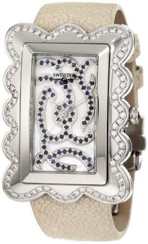 Swisstek Damen SK47728L Melange Limited Edition Diamant Sapphire Uhr