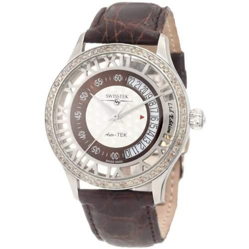 Swisstek Herren SK52710G Auto-Tek Limited Edition Diamant Automatik Uhr