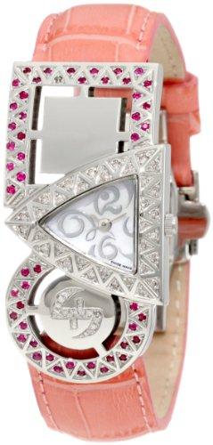 Swisstek Damen SK21909L Equilibre Ruby und Pink Diamond Quarzuhr
