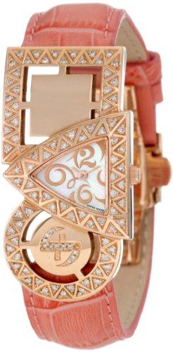 Swisstek Damen SK21911L Equilibre Rose vergoldet Diamant Quarzuhr