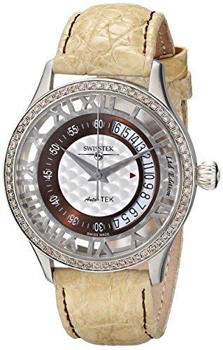 Swisstek Herren SK52707G Auto Tek Limited Edition Diamant Automatik Uhr