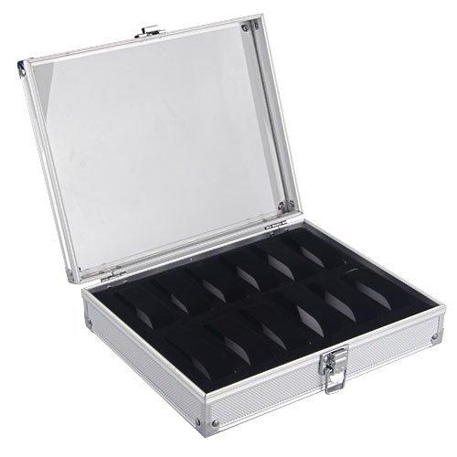 TOOGOO R Aluminium 12 Armbanduhr Uhr Karte Case Anzeigen Speicher Box