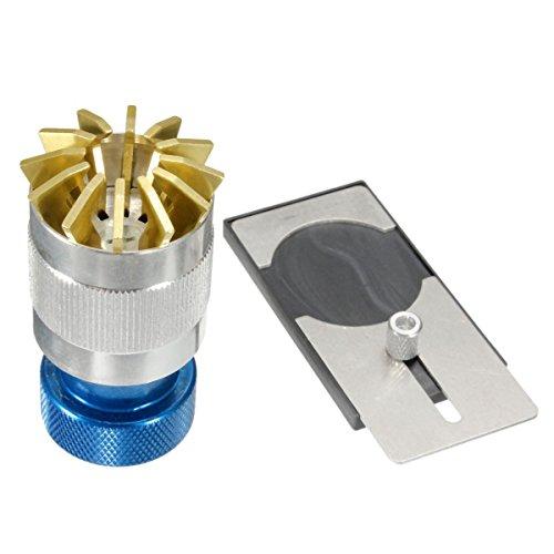 Uhren oeffner TOOGOO R Glasabheber Glasdeckel Glas Uhren oeffner Uhrenglaeser entfernen Plattform fuer Glaeser Blau