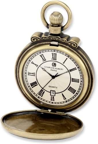 Charles-Hubert-Paris Damen-Armbanduhr 47mm Gehäuse Messing Batterie Zifferblatt Beige 3863-G