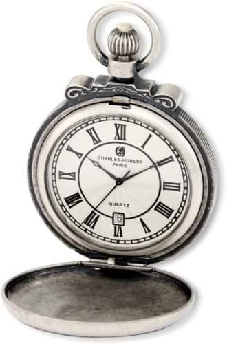 Charles-Hubert-Paris Damen-Armbanduhr 47mm Gehäuse Messing Batterie Zifferblatt Silber 3863-S