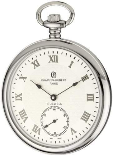 Charles-Hubert-Paris Damen-Armbanduhr 51mm Gehäuse Edelstahl Handaufzug Zifferblatt Weiß 3912-W
