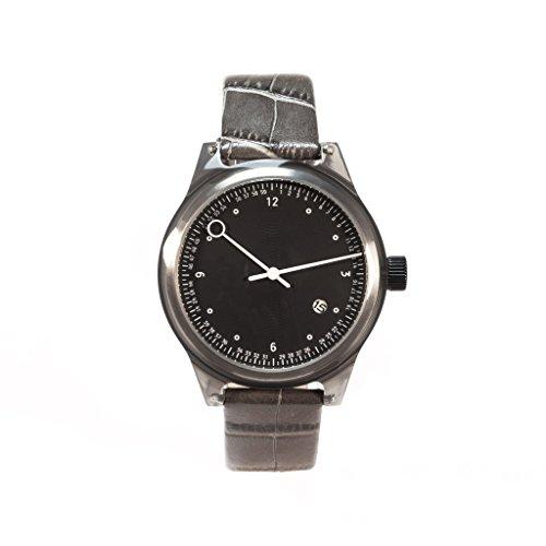 squarestreet Uhr Minuteman Zweihand Grau