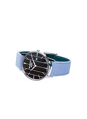 Watch Watchmaker Milano Ambrogio Weekend Timeonly in Steel Dial Dark Wood Black Teak