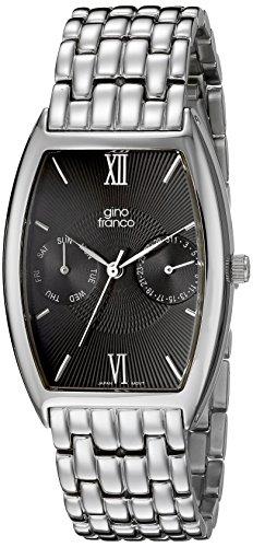 gino franco Herren 920BK Edelstahl Multi Function Armbanduhr