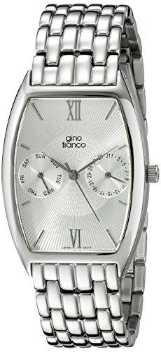 gino franco Herren 920WT Edelstahl Multi Function Armbanduhr