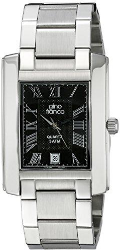 gino franco Herren 925CH Edelstahl Armband Uhr