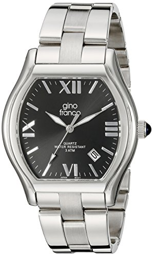 gino franco Herren 937CH kissenfoermig Edelstahl Armband Uhr