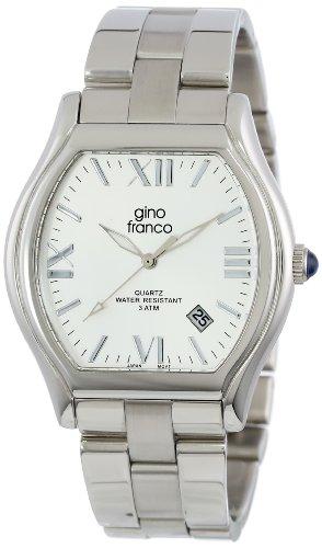 gino franco Herren 937SL kissenfoermig Edelstahl Armband Uhr