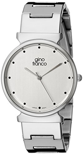 gino franco Herren 964SL Runde Edelstahl Armband Uhr