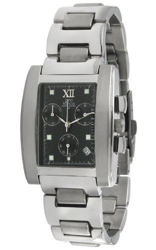 gino franco Herren 979BK Stainless Steel Chronograph