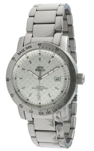 gino franco Herren 987SL Runde Edelstahl Armband Uhr