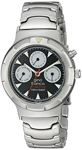 gino franco Herren 980SL Runde Edelstahl Multi Function Armbanduhr