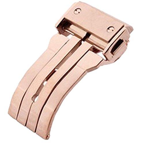 New 24 mm Rose Gold Edelstahl Faltschliesse Schnalle Passform Hublot Uhrenarmband
