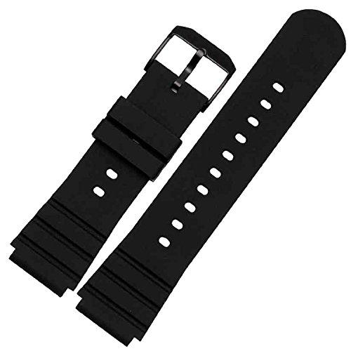 New Gummi Uhrenarmband schwarz Schnalle 25 mmx21 mm Fit Luminox Linsenteleskop 3901 3001 3000 Polierbuerste Navy Seals