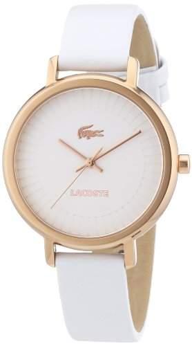Lacoste Damen-Armbanduhr Analog Quarz Leder 2000715