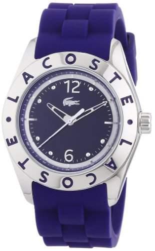 Lacoste Damen-Armbanduhr Analog Quarz Silikon 2000750