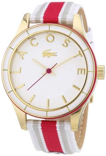 Lacoste Damen-Armbanduhr Analog Quarz Textil 2000770