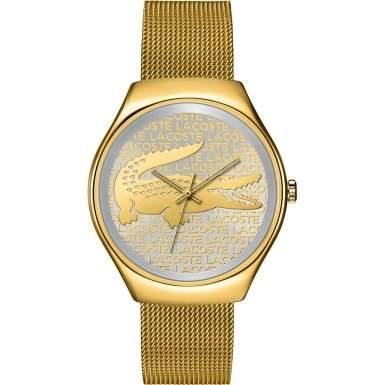 Lacoste Damen-Armbanduhr Everyday Essentials Analog Quarz Gelb 2000811