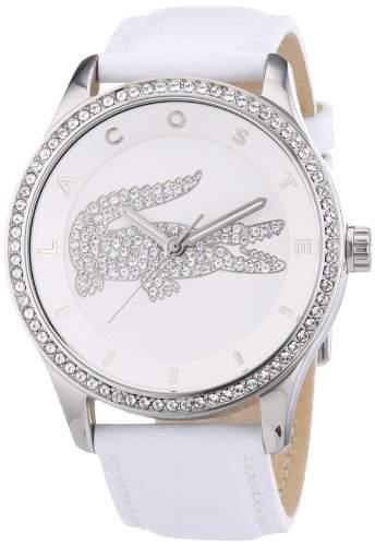 Lacoste Damen-Armbanduhr Analog Quarz Leder 2000819