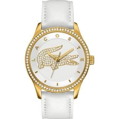 Lacoste Damen-Armbanduhr Analog Quarz Leder 2000820