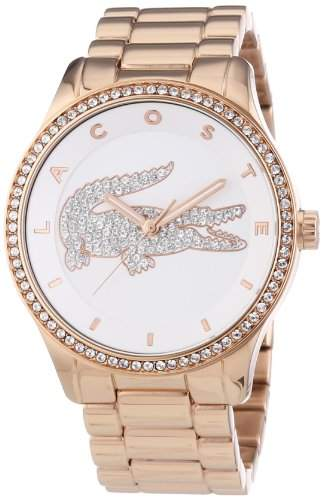 Lacoste Damen-Armbanduhr Analog Quarz Edelstahl 2000828
