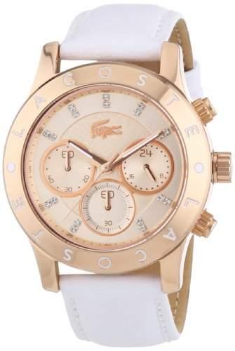 Lacoste Damen-Armbanduhr Analog Quarz Leder 2000831