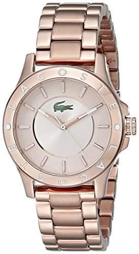 Lacoste Damen-Armbanduhr MADEIRA 2000851Rose Gold Edelstahl Quarz