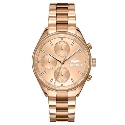 Lacoste Damen-Armbanduhr Chronograph Quarz Edelstahl beschichtet 2000867