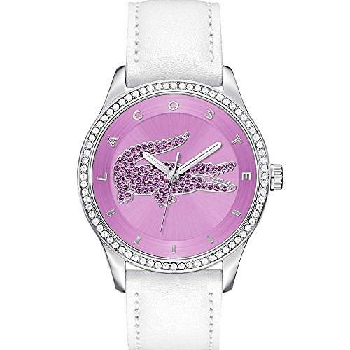 Lacoste Damen-Armbanduhr Analog Quarz Leder 2000870