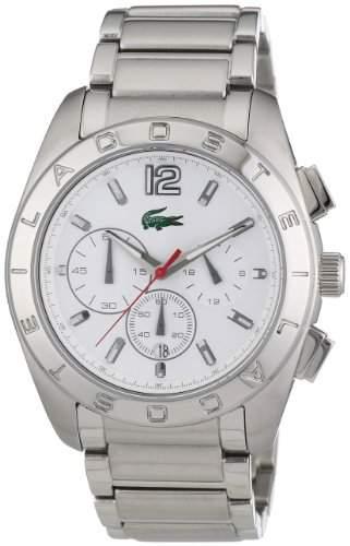 Lacoste Herren-Armbanduhr XL Analog Quarz Edelstahl 2010604