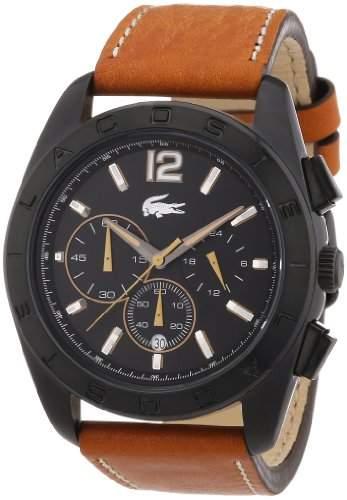 Lacoste Herren-Armbanduhr XL Analog Quarz Leder 2010607