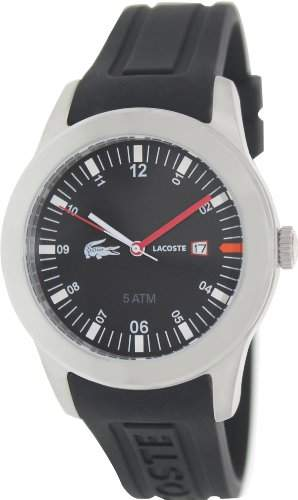 Lacoste Herren-Armbanduhr XL Analog Quarz Silikon 2010628