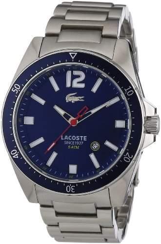 Lacoste Herren-Armbanduhr XL Analog Quarz Edelstahl 2010636