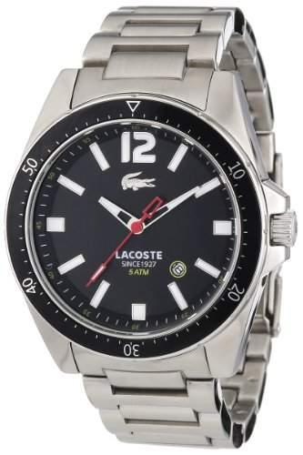 Lacoste Herren-Armbanduhr XL Analog Quarz Edelstahl 2010639