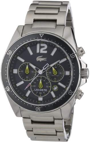 Lacoste Herren-Armbanduhr XL Analog Quarz Edelstahl 2010643