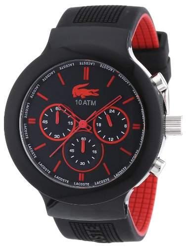 Lacoste Herren-Armbanduhr XL Analog Quarz Silikon 2010652