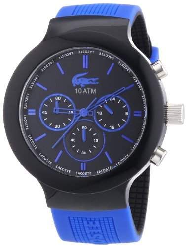 Lacoste Herren-Armbanduhr XL Analog Quarz Silikon 2010654