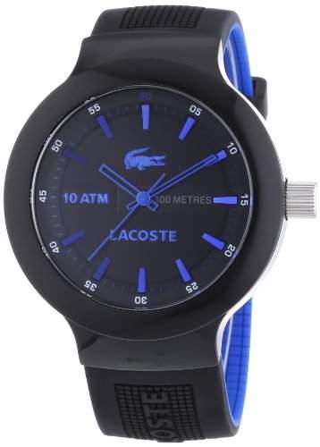 Lacoste Herren-Armbanduhr XL Analog Quarz Silikon 2010658