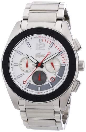 Lacoste Herren-Armbanduhr XL Analog Quarz Edelstahl 2010669