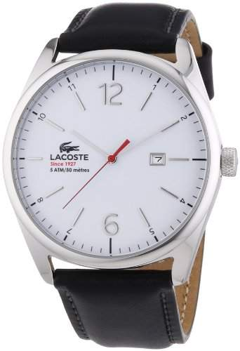 Lacoste Herren-Armbanduhr Analog Quarz Leder 2010680