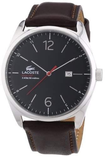 Lacoste Herren-Armbanduhr Analog Quarz Leder 2010682