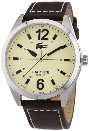 Lacoste Herren-Armbanduhr Analog Quarz Leder 2010696