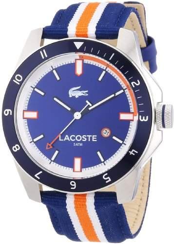 Lacoste Herren-Armbanduhr XL Analog Quarz Textil 2010700