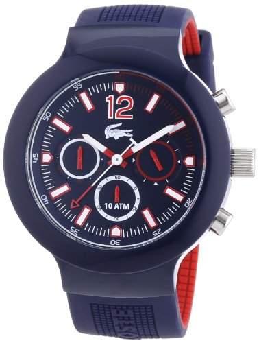 Lacoste Herren-Armbanduhr XL Analog Quarz Silikon 2010703